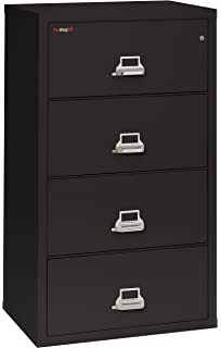 Fireking Fireproof Lateral File Cabinet (4 Drawers, Impact Resistant,  Waterproof), 52.75