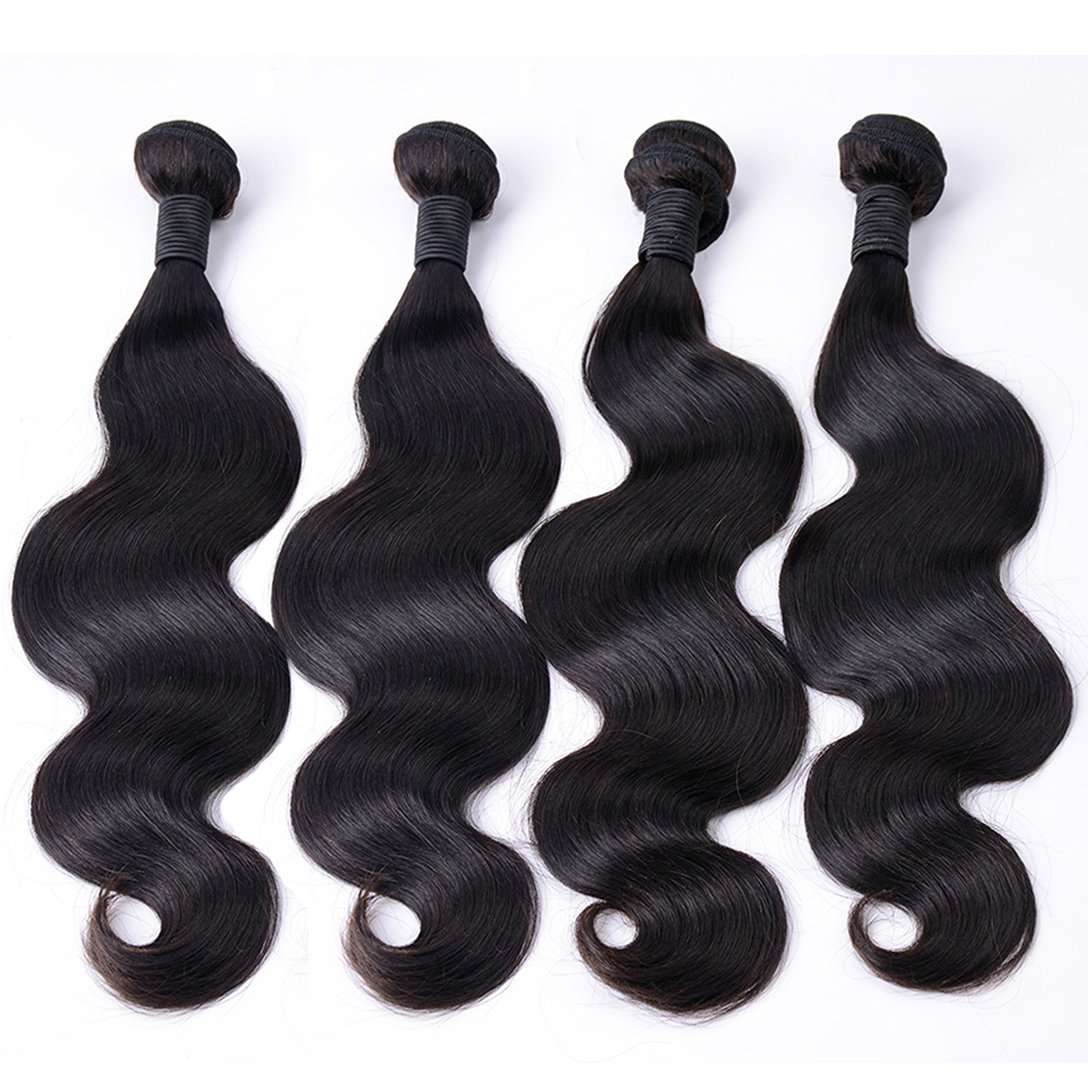 Amazon.com   Brazilian Virgin Hair Body Wave 4 Bundles Deals Remy Human  Hair Bundles Weave Good Cheap Wet And Wavy Human Hair Extensions 50g    Piece Natural ... 77ae19593f75