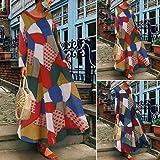 Plus Women Dress Women's Half Sleeve Geometric