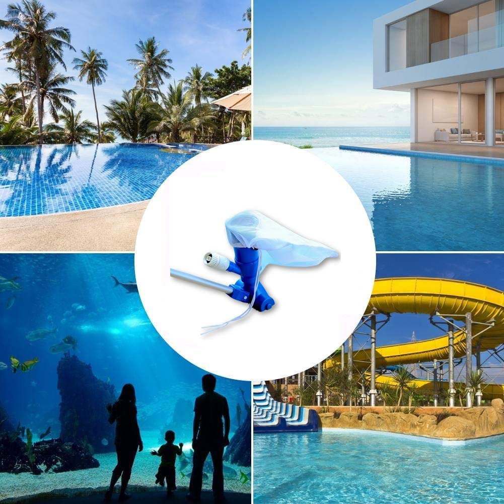 Qswokerr Portable Pool Vacuum Jet Underwater Cleaner for Above Ground Pool,Spas,Ponds /& Fountains Jet Vac Vacuum Cleaner w//Brush Pole Leaf Bag for Above Ground Pool