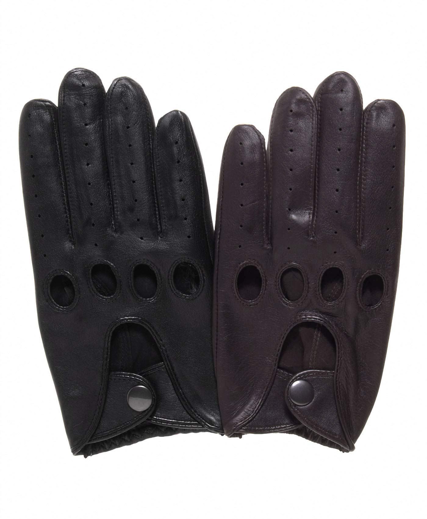 Pratt and Hart Traditional Leather Driving Gloves Size XL Color Black
