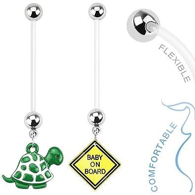 Schwangerschaft Bauchnabelpiercing Bauch Piercing Bioflex Flexibel Anhänger
