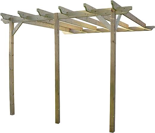 Estructura de madera jardín pérgola 4, 8 m x 4, 8 m ...