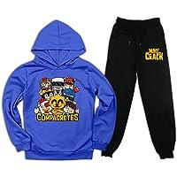 aiyuheping Mike-Crack - Sudadera con capucha y pantalones deportivos para niños y niñas