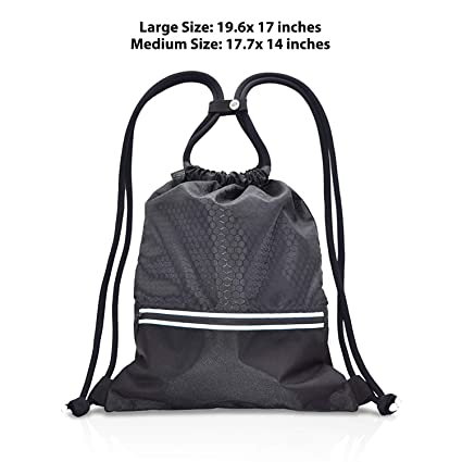 1a620d23d2ff fitter s niche Sports Gym Lock Sack Pack Lightweight Water Resistant Drawstring  Backpack