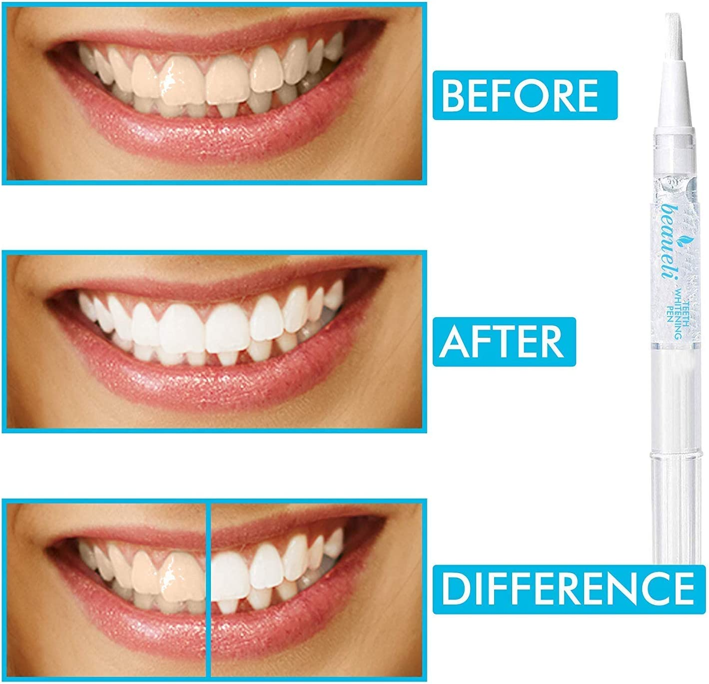 Amazon Com Beaueli Teeth Whitening Pen 3 Pack Safe 35