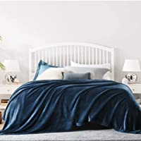 KEITE Mantas para Sofa de Franela,Manta para Cama Reversible de 100% Microfibre Extra Suave,Manta Transpirable (Azul…
