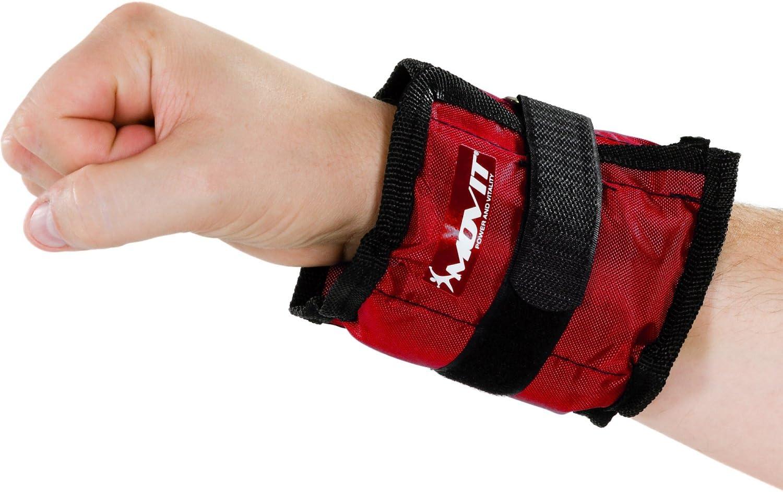 und Handgelenke in 3 Farbvarianten Gewichte f/ür Arme und Beine Gewichtsmanschette Fu/ß//Handgelenk 2X 500g und 2X 1000g Laufgewichte f/ür Fu/ß Movit 4er Set Gewichtsmanschetten