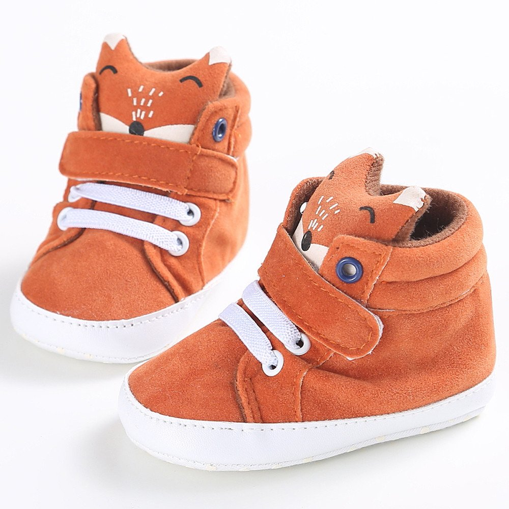 Iuhan Baby Girl Boys Fox High Help Shoes Sneaker Anti-slip Soft Sole Toddler (Age:6~12 Month) by Iuhan  (Image #2)