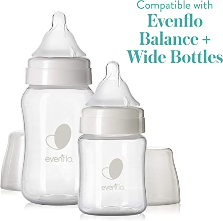 Similac Pack of 4 Medium Flow for Infants 3-6 Months Compatible with Dr Evenflo and NUK First Essentials Regular Neck Baby Feeding Bottles Browns Baby Bottle Nipples