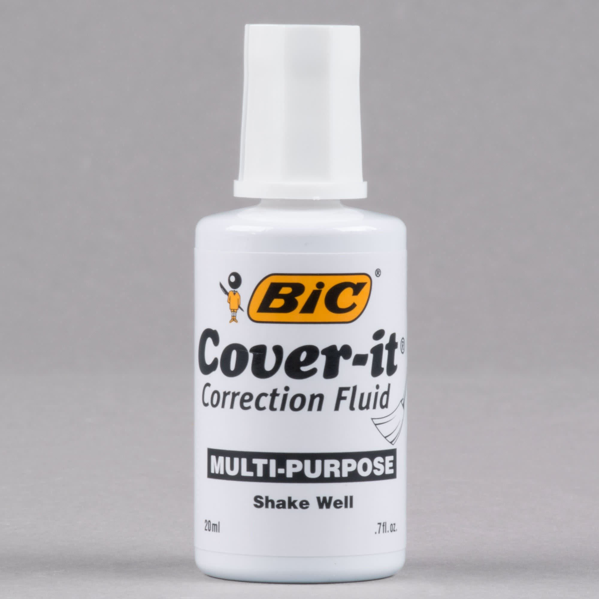 TableTop King WOC12DZ Wite-Out Cover-it Corrective Fluid 20 mL Bottle - 12/Pack