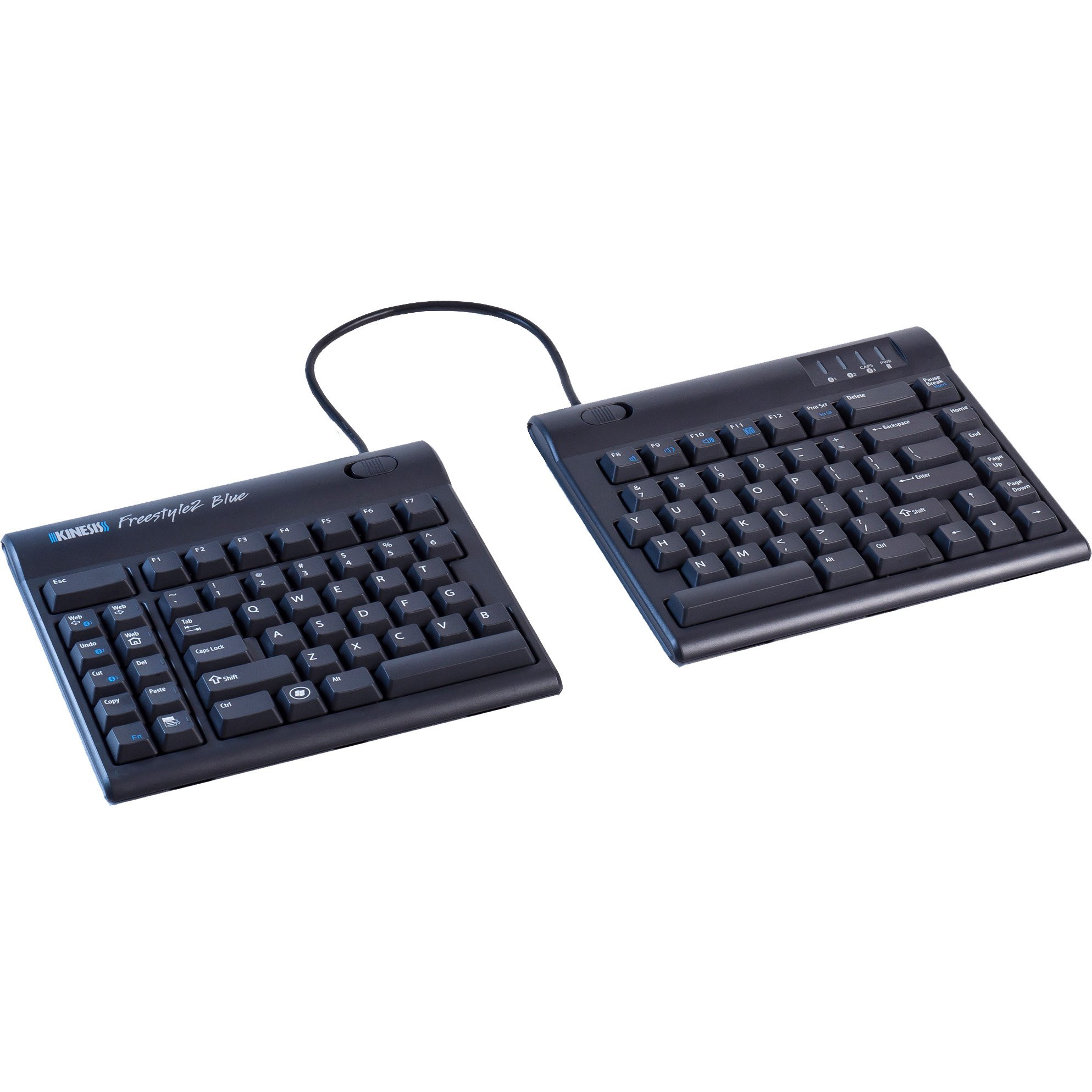 Kinesis Freestyle2 Blue Wireless Ergonomic Keyboard for PC (9'' Separation)