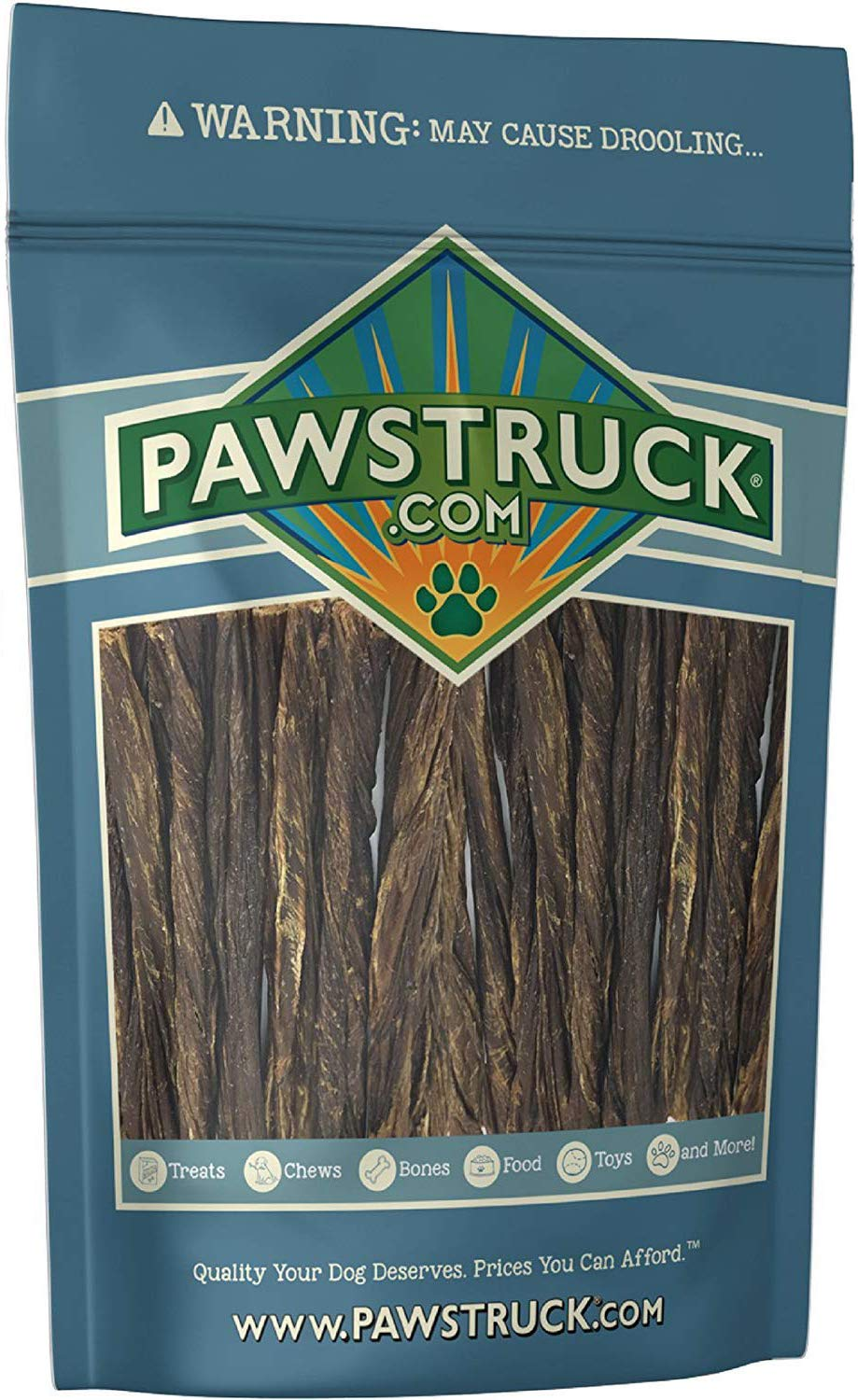 5'' Junior Beef Gullet Bully Sticks for Dogs & Puppies (60 Ct) Natural Odorless Jr. Esophagus Treat | Joint Health & Cleans Teeth | Free-Range Grass-Fed Cattle | Mini Thin Bladder Jerky Chew Steer Stix by Pawstruck