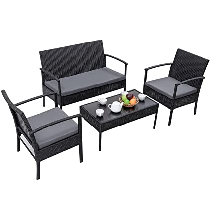 image modern wicker patio furniture. TANGKULA 4 Piece Outdoor Furniture Set Patio Garden Pool Lawn Rattan Wicker  Loveseat Sofa Cushioned Seat Image Modern Wicker Patio Furniture M
