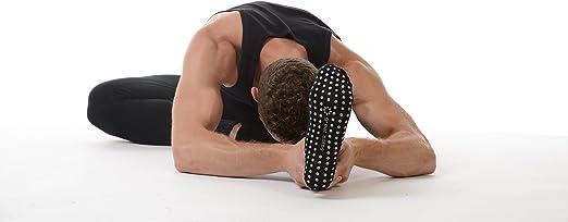 Gran suelas de hombre con pestañas para Pilates y Yoga agarre calcetines