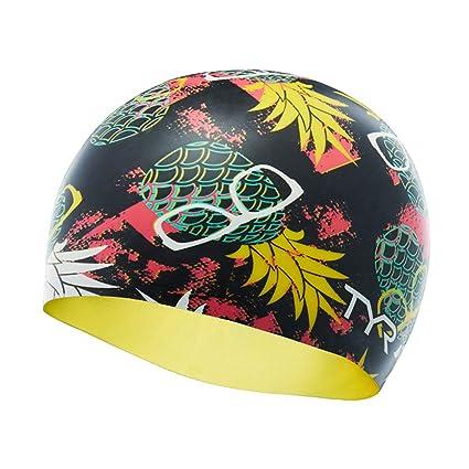 6adcc991d02 Amazon.com : TYR Pineapple Man Cap Swimming Equipment, Multi/Black ...
