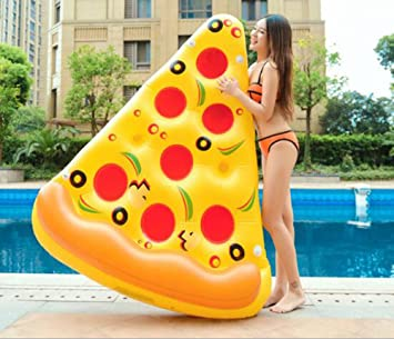 Amazon.com: kimsai hinchable Pizza piscina flotador Balsa ...