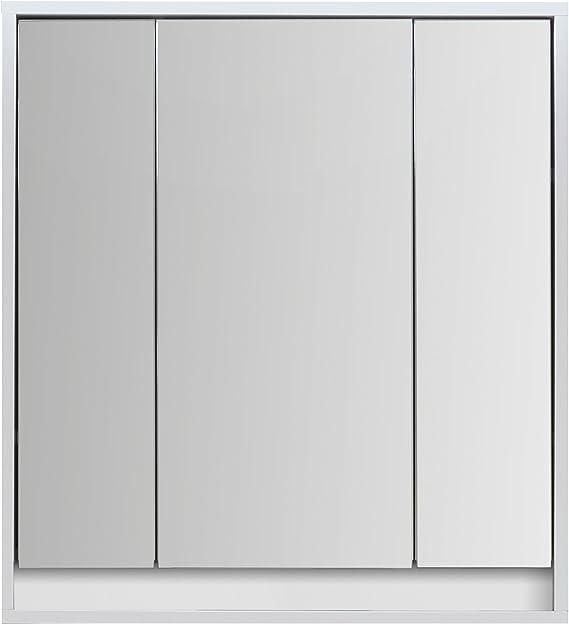 Trendteam Smart Living Badezimmer Spiegelschrank Spiegel Sol 67 X 73 X 18 Cm In Korpus Weiß Front Weiß Hochglanz Ohne Beleuchtung Küche Haushalt