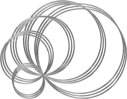 "10 Steel Metal Macrame Craft Dreamcatcher Large Round Wall Hanging Art Rings 11/"""