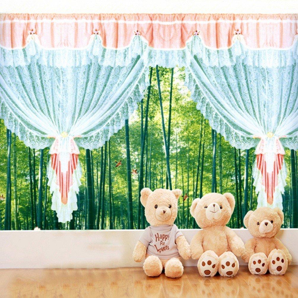 A Monamour新生児赤ちゃん写真の背景幕インドア木製床Bear ToyカーテンStudio小道具5 x 7ft   B01KTO73XI