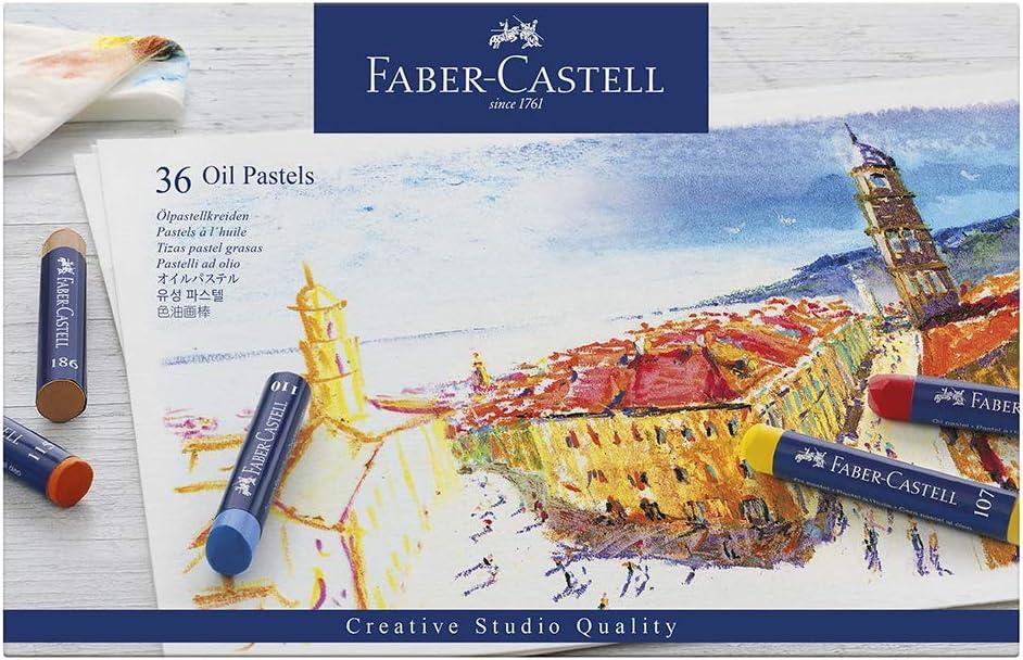 Faber Castell Creative Studio Oil Pastel Crayons – 36 Vibrant Colors