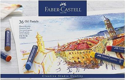 Faber-Castell 127036 - Estuche de cartón con 36 pasteles de aceite, multicolor: Amazon.es: Oficina y papelería