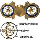 Brass Hand Spinner Fidget Spinner EDC Toy Metal Spinning Tops Gyro, Premium Bearing, Ultra Duarable