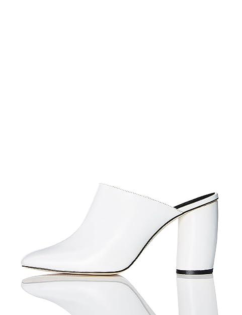 FIND Mules de Piel de Tacón Mujer  Amazon.es  Zapatos y complementos 309a1bd48cb0