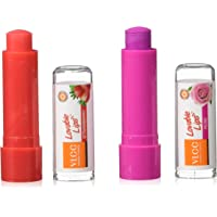 VLCC Lovable Lip Balm Strawberry with SPF 15, 4.5g with Free Rose Lip Balm, 4.5g