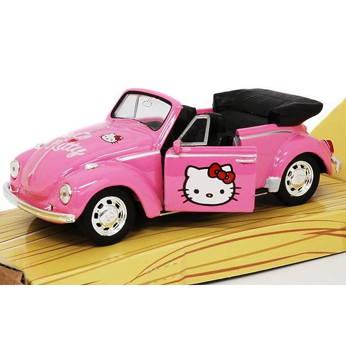 Amazon.com: Hello Kitty Volkswagen Kids Buggy Die Cast ...