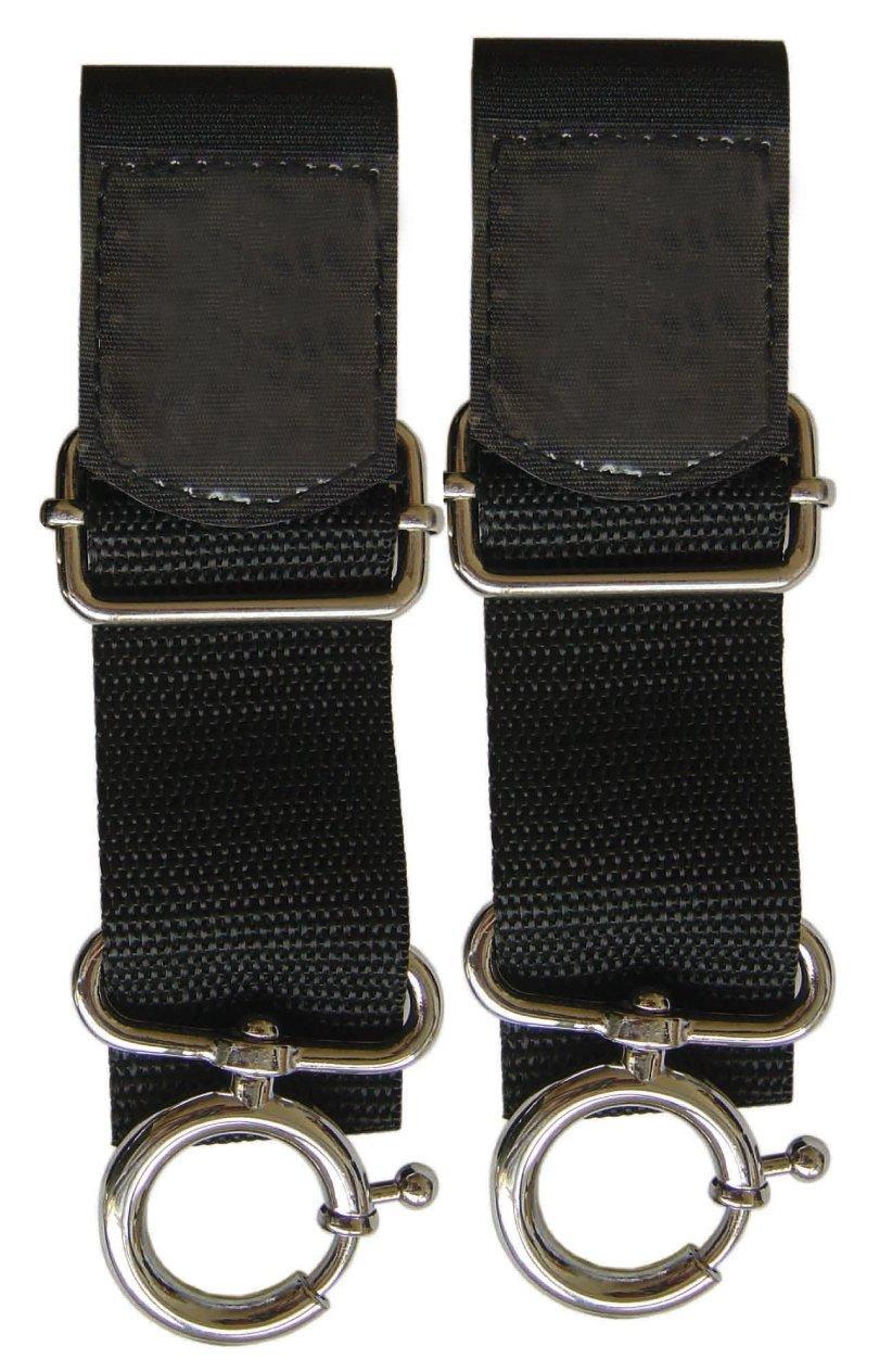 Candide 400651 POU 7 - Enganches de sujeción con velcro universales, para carrito o silla de paseo Plasti Temple