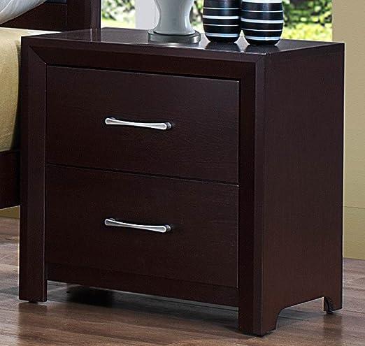 Benjara Benzara Wooden Nightstand With Two Drawers Brown Furniture Decor