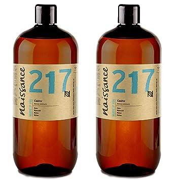 Naissance Aceite de Ricino 2 x 1 Litro - Puro, natural, vegano, sin