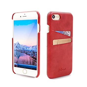 Funda iPhone 7, Airart Wallet Case de Cuero Suave Clásico de la Prima, Contraportada Pro Ultra Delgado con 2 Ranuras para Tarjetas de Crédito ID ...