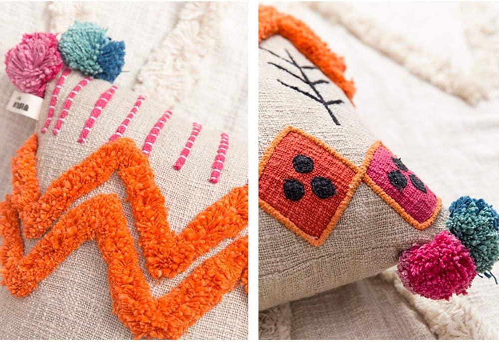 YILIAN Zuodian YL Sabor Visual Estilo marroquí Almohada de algodón ...