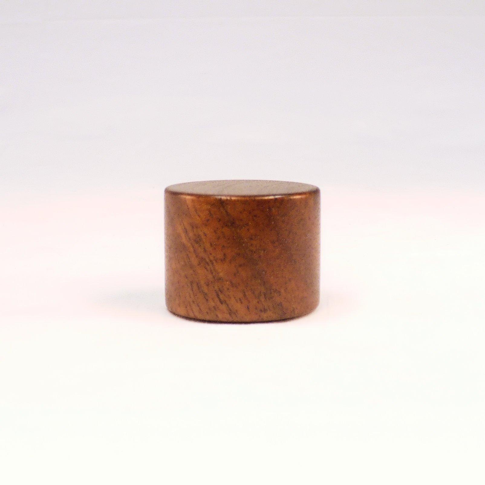 Lamp Finial, Black Walnut, Drum Pattern 5