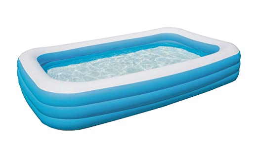 Bestway 54009 Piscina Hinchable Rectangular Deluxe, Blue, 305cm x ...