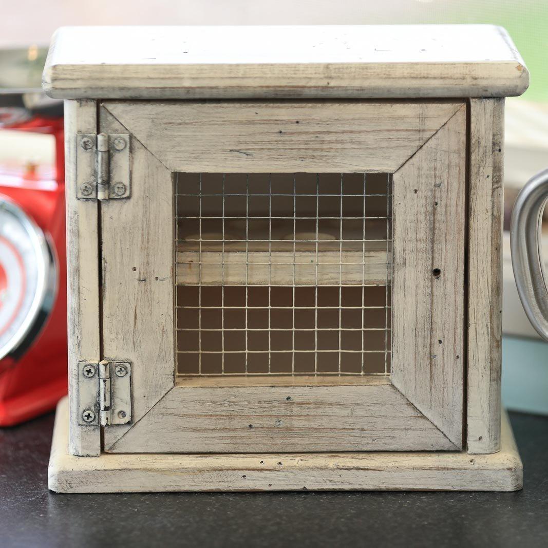 Amazon.com: Egg Cabinet - Wooden - 12 Eggs - Ventilated wire mesh ...