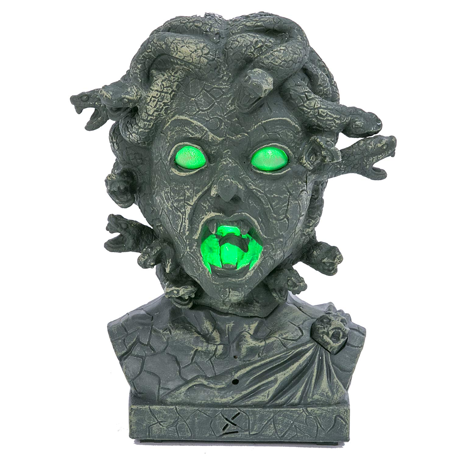 One Holiday Way Creepy Light Up Animated Medusa Halloween Bust - Tabletop Halloween Decoration by One Holiday Way