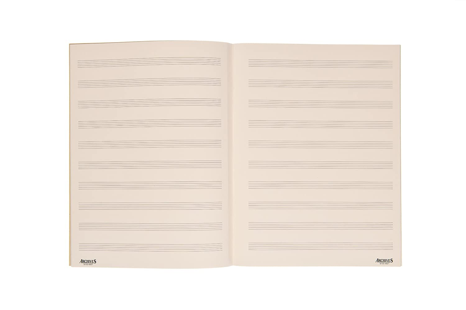 Archives Spiral Bound Manuscript Paper Book, 10 Stave, 96 Pages D'Addario &Co. Inc B10S-96