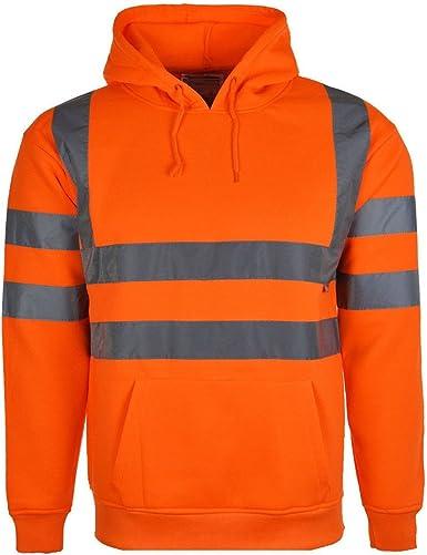 Dickies Mens Hi Vis Hooded Sweatshirt Hi Viz Hoodie Safety Work Hoody Jackets