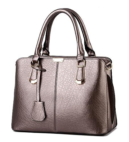 149a0a341e Alidier Nouvelle marque et haute qualité Mode Sac à Main Porté Epaule Femme  Sac Fourre Marron