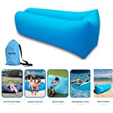 JINGOU Inflatable Lounger Couch with Carry Bag Beach Lounger Air Sofa Inflatable Couch Bed Pool Float for Indoor/Outdoor Hiking Camping,Beach,Park,Backyard Waterproof Durable