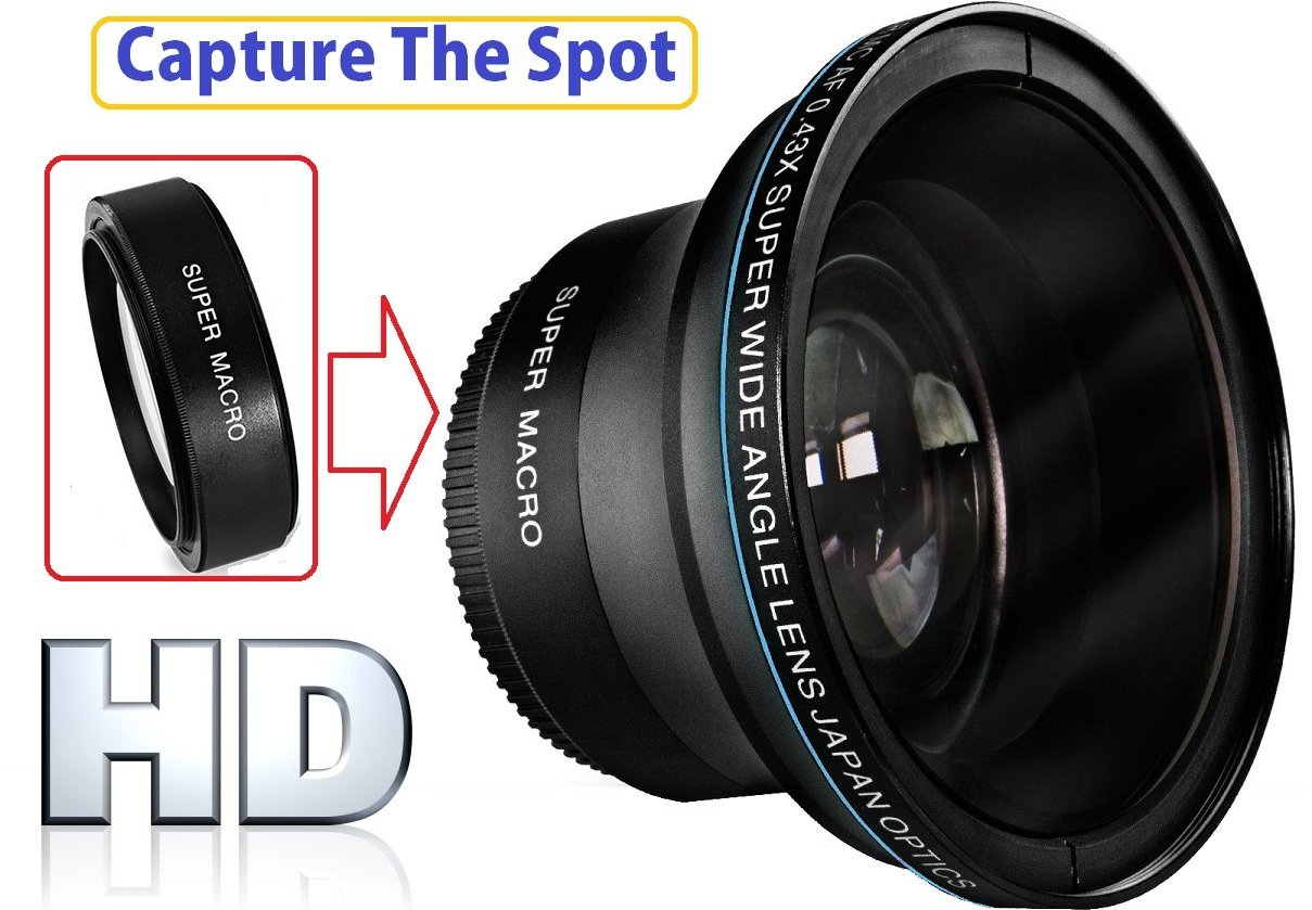 Hi Def MK III Fisheye Lens For Canon VIXIA HF R80 R82 R800 by pro series