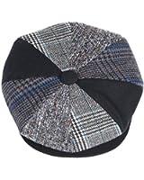 Mens Patchwork Wool Big Apple Duckbill Ivy Newsboy Irish Tweed Cap Hat Navy