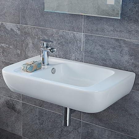 Cloakroom Basin Wall Mounted Hung Bathroom Sink Small Modern