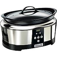 Crock-Pot SCCPBPP605-050 Olla de cocción lenta digital para preparar multitud de recetas, 230 W, 5.7 litros, Acero…