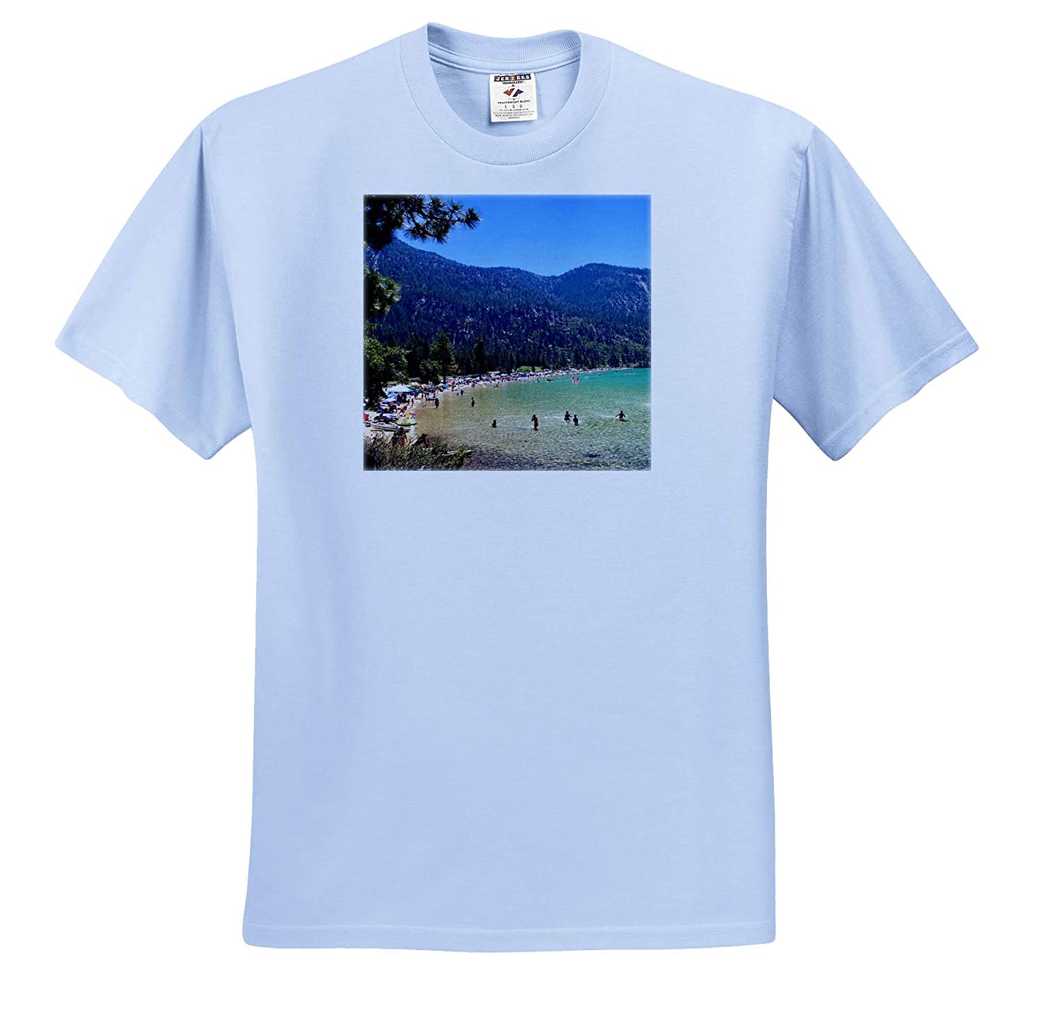 T-Shirts Lake Tahoe Sand Harbor Beautiful View Summer Fun Mountains 3dRose Tory Anne Collections Photography