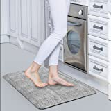 """Anti Fatigue Mat(20""""W x32""""Lx 3/4""""),Comfort Kitchen Padded Floor Mats Cushioned For Kitchen,Laundry and Office,Non-Slip,Waterproof,Non-Toxic,Eco-friendly Standing Desk Mat(Gray)"""