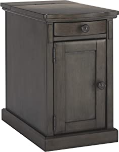 Signature Design by Ashley Laflorn Chairside End Table with USB Ports & Outlets - Gray